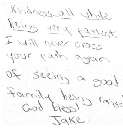Note from Jake-WTVD