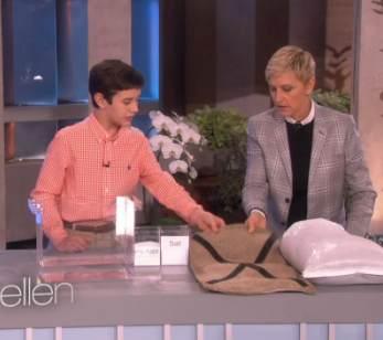 Peyton Robertson inventor with Ellen