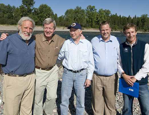 Senators Baucus Tester Sec Salazar-NationalParksConservationAssociation-photo