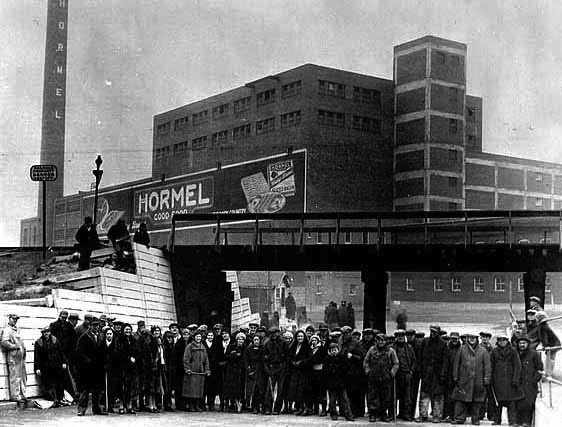 Workers Hormel meat packing plant-approx1930s