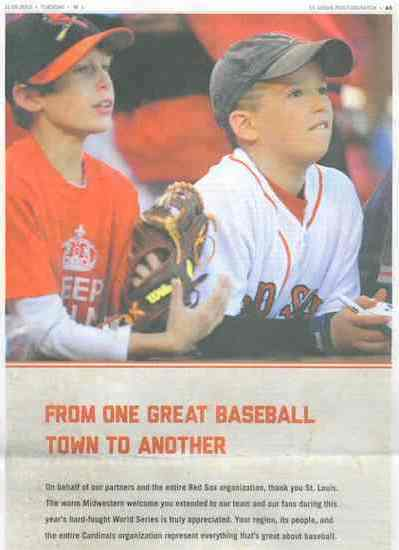 baseball fans newspaper ad