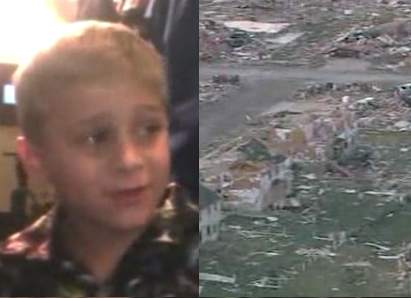 boy saves family from tornado-splitscreen
