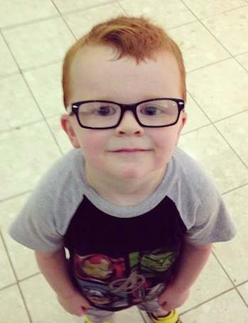 glasses for boy Noah-FB family photo