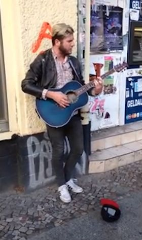 street musician youtubeclip