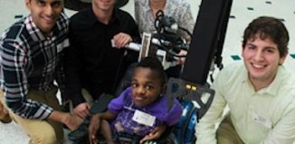 wheelchair robotic arm for brittle boned boy RiceEDU