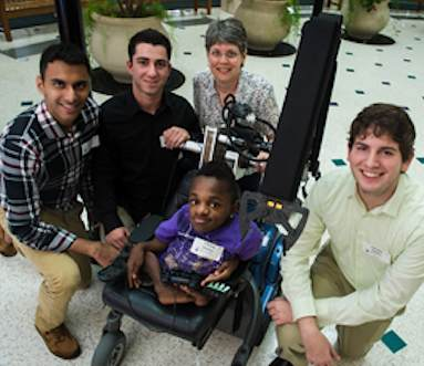 wheelchair robotic arm for brittle boned boy RiceEDU