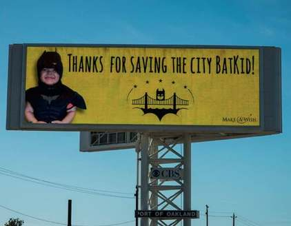 Batkid billboard-PatriciavWilson tweeted this