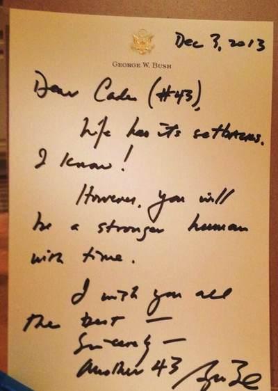 Bush letter to kicker