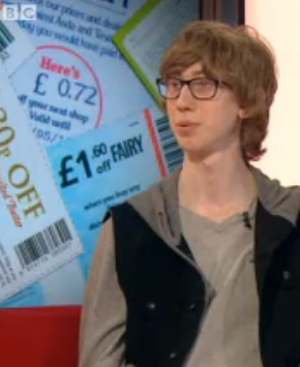 Coupon crazed UK teen-BBCvid