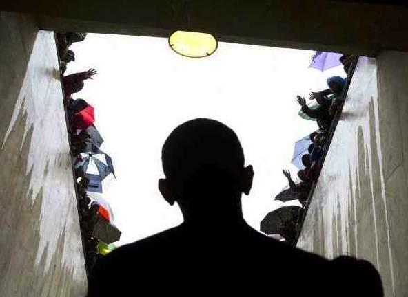 Obama enters SA stadium for Mandela Memorial
