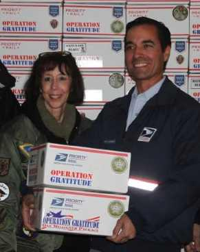 Operation Gratitude mails packages