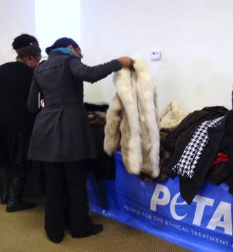 PETA gives furs to poor-ORGphoto