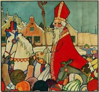 Sinterklaas from 1929 poster flickr cc