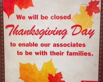 Thanksgiving Day Closed sign-Flickr-sgroi-CC