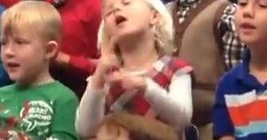 signing girl shares concert with deaf parents