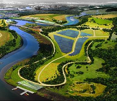 solar panel farm-rendering-NYCFreshkills