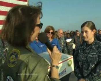 soldier gets Operation Gratitude truck