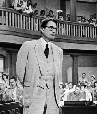 Atticus Finch movie hero-To Kill a Mockingbird