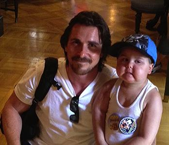 Christian Bale with JaydenBarber - family photo