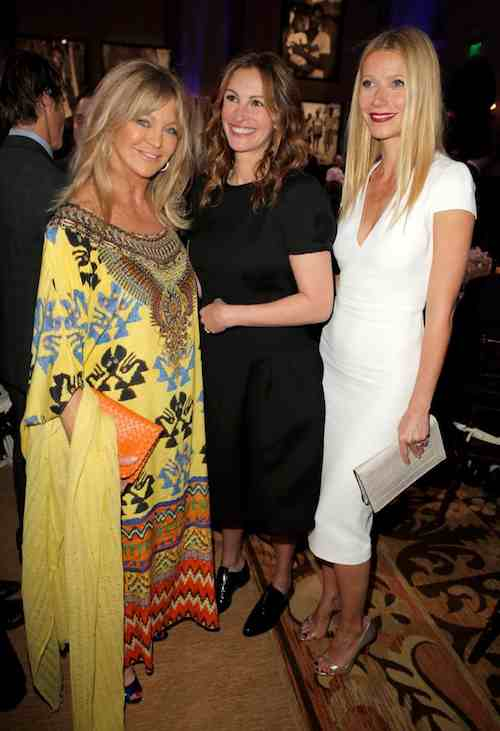 Goldie Julia Roberts and Gwyneth - JPHRO Haiti charity