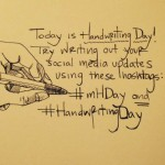 Handwriting Day tweet by Moleskine