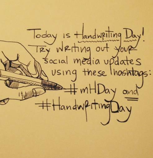 Handwriting Day tweet by Moleskine