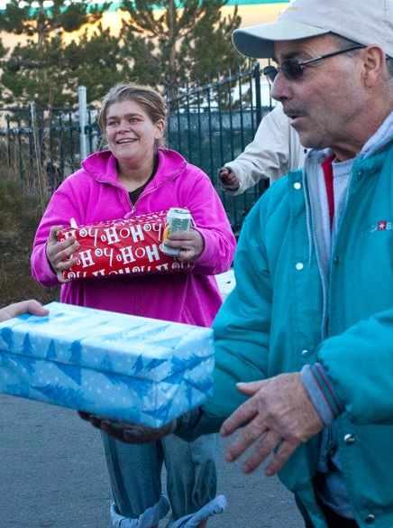 Presents for homeless Kippy Lanker-Photo