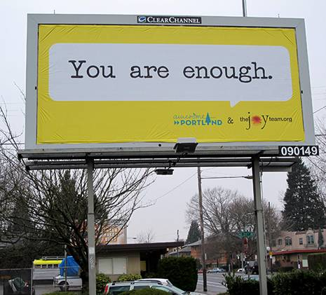 Sign You Are Enough