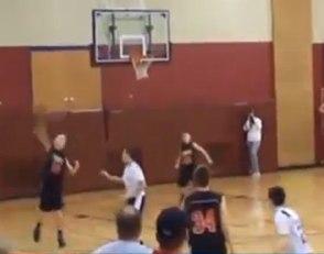 basketball teen hits full court twice