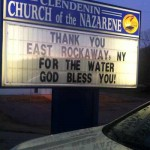 church sign-Thanks for water-FBphoto-Leslie Jennings Young