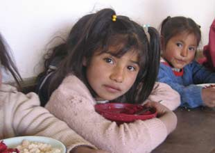 food program in Bolivia