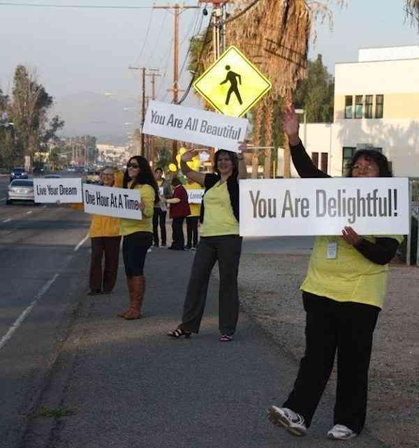 signs of encouragement Riverside School-photo
