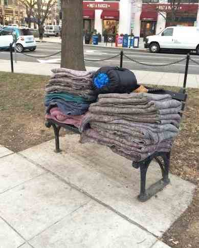 blankets stacked on bench-FB-Danika Oriol-Morway