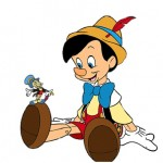 jiminy cricket and Pinocchio-Walt Disney Productions-1940
