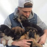 puppies found by olympic skier-Kenworthy