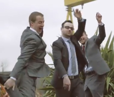 suits dancing outside-YouTube