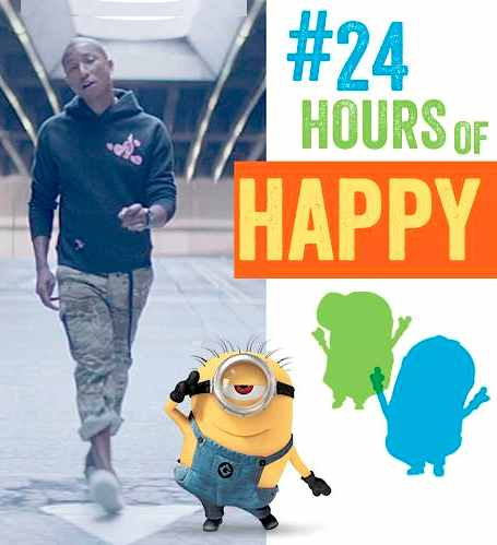 24 hours of happy-Pharell Despicable Me