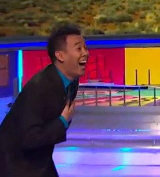 Game show Wheel of Fortune contestant wins
