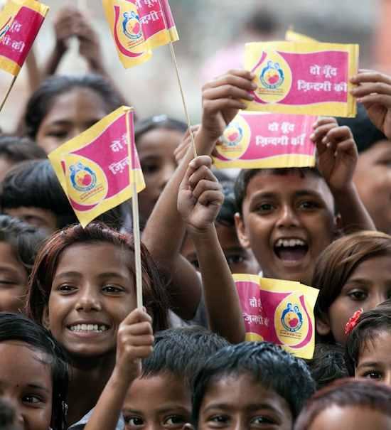 India Polio-free-WHO photo
