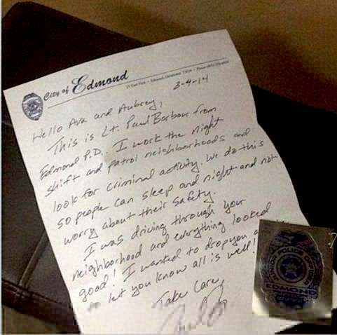 Letter from Edmond officer-FB