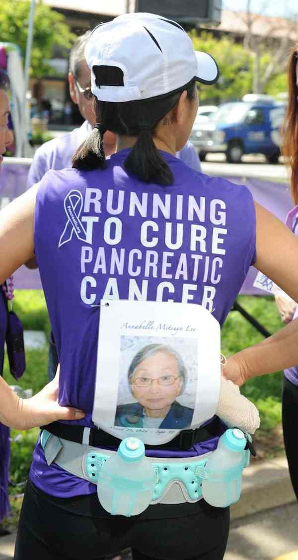 cancer marathon pancreatic grandma tribute-Angela Daves-Haley