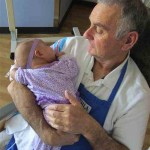 cuddling babies at hospital-Childrens Hospital Los Angeles