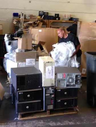 e-waste warehouse-GreenMouseRecycling