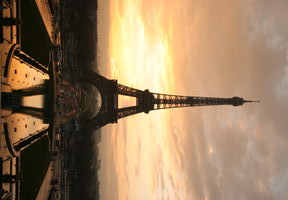 eiffel at sunrise from the trocadero
