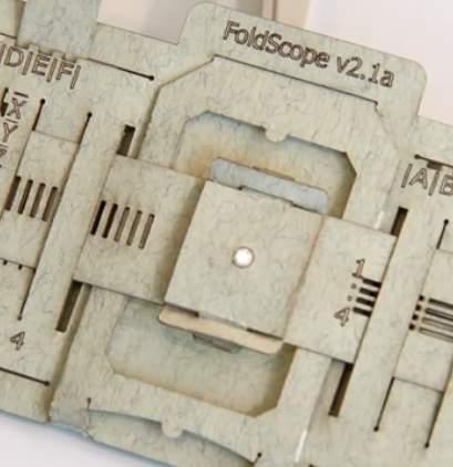 foldscope microscope-StanfordEDU