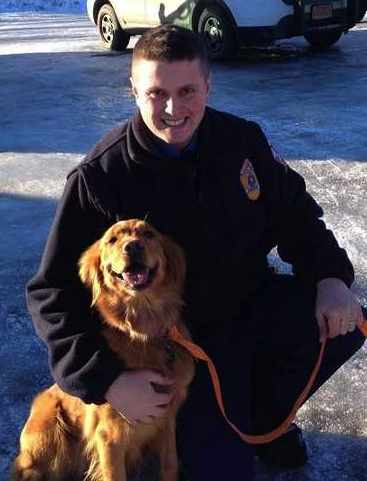 golden retriever saves Alaska snowmobile-StateTrooperPhoto