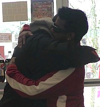 hugging homeless man given lottery winnings-YouTube