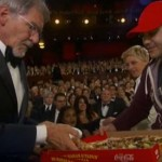 pizza delivery to Harrison Ford and Ellen at Oscars