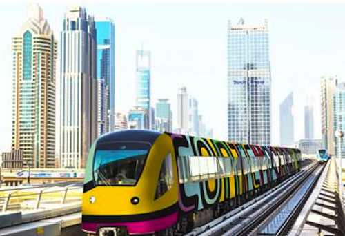trains of art envisioned for Dubai