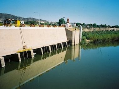 water flow at Morelos Dam-AzwaterDotGov